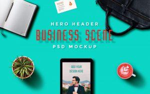 Free – Business Scene Mockup